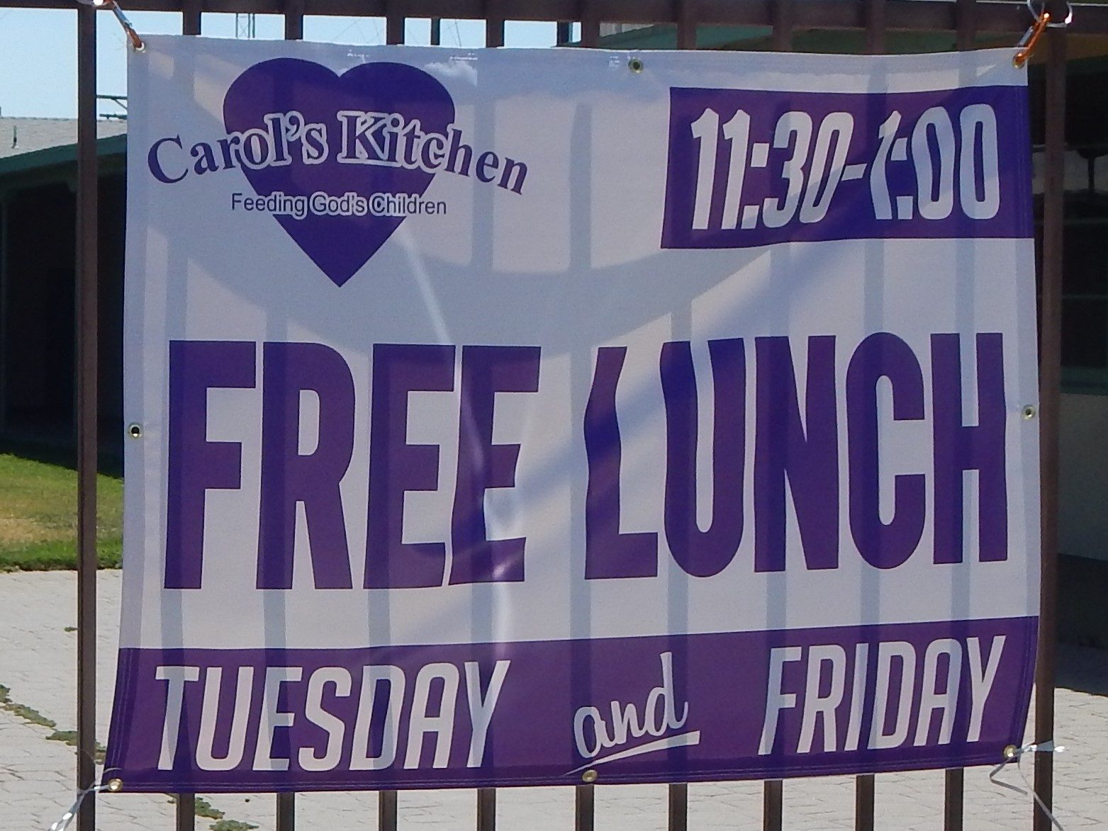 Free Lunch Sign
