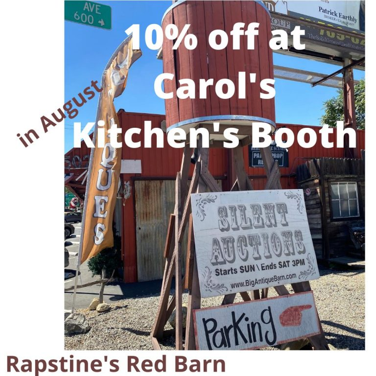 Carol's Kitchen's Silent Auction Booth, info at bigantiquebarn.com