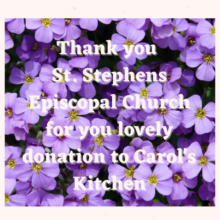 Thank You to St. Stephens Episcopal