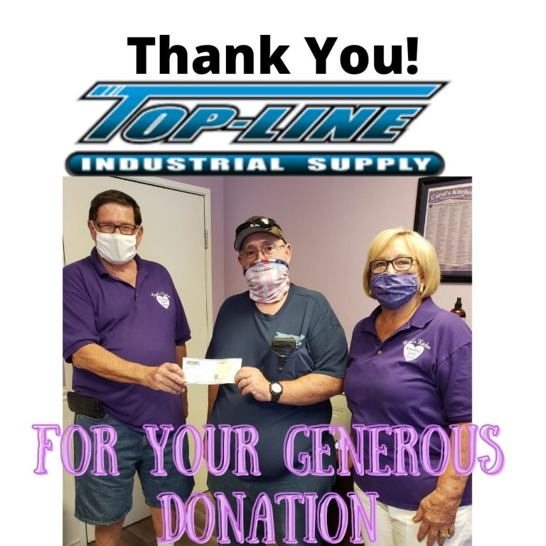 Thank You TopLine for Your Generous Donation!
